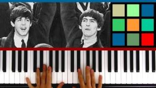 """How To Play """"Michelle"""" Piano Tutorial (The Beatles)"""