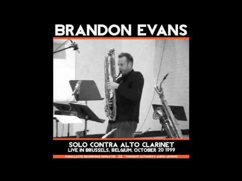 Brandon Evans -- Forgiveness -- Solo Contra Alto Clarinet (Live in Brussels 1999)