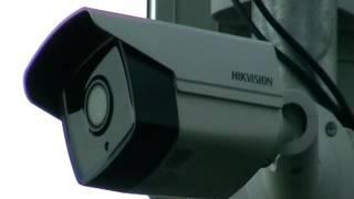 Monitoring Big Brother Na Plaży - Przemysłowe Kamery Monitorujące Plażę Nad Jeziorem Na Kąpielisku