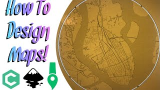 How to design and make maps on your CNC router Carbide Create Turorial