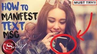 How to Manifest a Text From a Specific Person | Law of Attra...