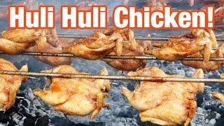 Huli Huli Chicken At Ray's Kiawe Broiled Chicken In Haleiwa, Hawaii