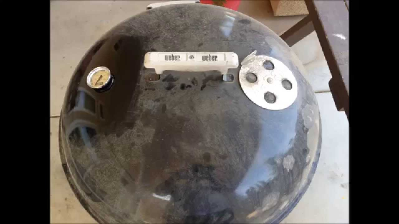 Bbq Hack Adding A Weber Thermometer Youtube - Bbq Temperatuurmeter