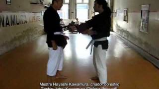 Mestre Hayashi Kawamura e Álvaro André