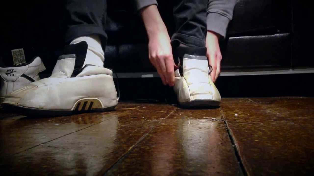 e2ff220268ba7f Swapping my trashed Nike AF1 s for my old Adidas Kobe 2 s (who got a shower  first) - YouTube