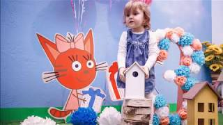 Фотозона три кота. Карамелька - декор на день рождения.