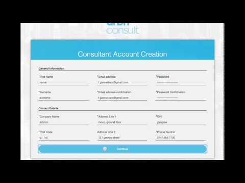 arbn consult - how to create an account