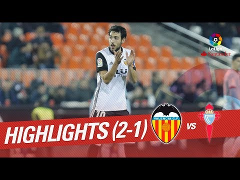 Resumen de Valencia CF vs RC Celta (2-1)