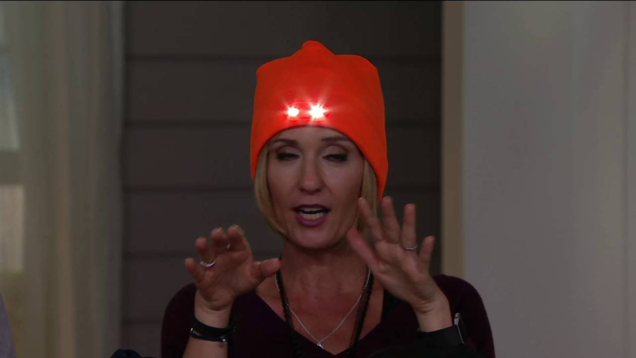 Panther Vision Powercap Fleece Beanie with 4 LED Lights on QVC - YouTube a6fc17c9bf7f