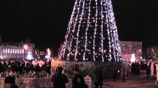 Новогодняя ёлка и народные гулянья на площади Куйбышева. 2014 год.