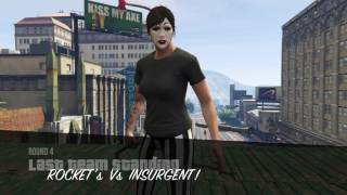GTA 5 ONLINE ROCKETS VS INSURGENT!  PLAYING WITH ANOSINIESTRO PS4