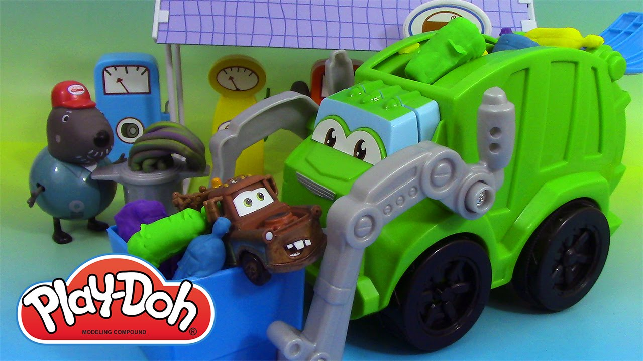 play doh camion poubelle p 226 te 224 modeler play doh trash tossin rowdy the garbage truck