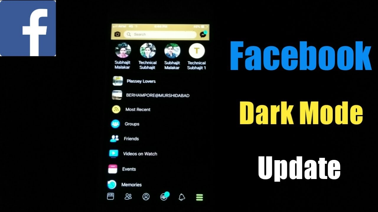 How To Activate Facebook Dark Mode | Facebook Dark Mode Update | Enable  Facebook Dark Mode