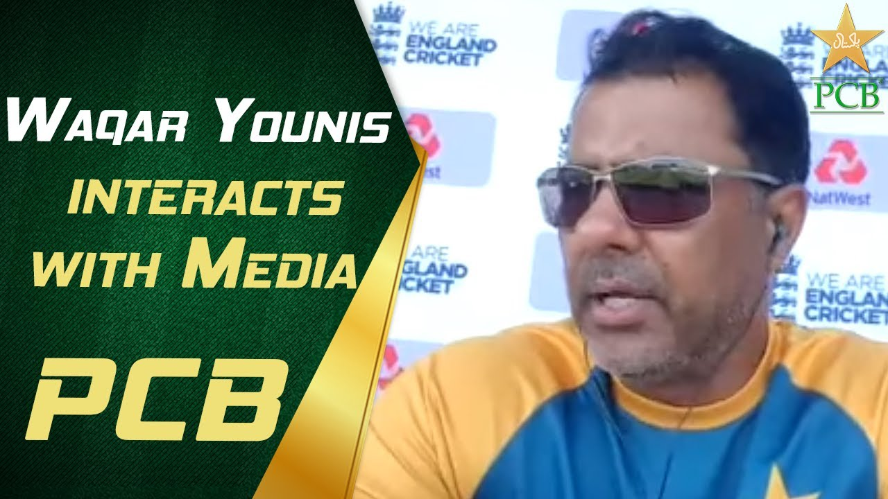 Waqar Younis interacts with Media   PCB