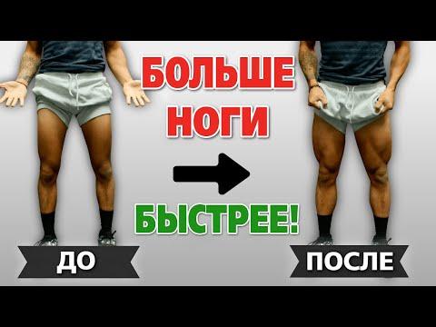 Как накачать большие ноги быстрее. Ускоряем рост квадрицепсов