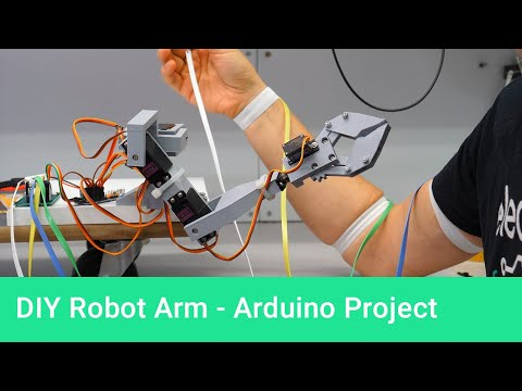 3D Printed Robotic Arm Controlled by Arduino Mimics Human Movement