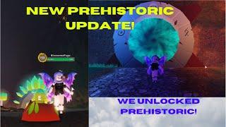 NEW PREHISTORIC BIG UPDATE! WE UNLOCKED PREHISTORIC AND GOT PREHISTORIC EGG! Roblox Dragon Adventure