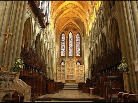A walk inside Truro Cathedral, Cornwall.