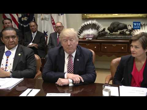 President Trump Leads a Tribal, State, and Local Energy Roundtable