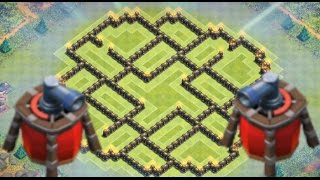Clash of Clans - 2 Air Sweepers! BEST Townhall 9 (TH9) Farming BASE - New Update 2015
