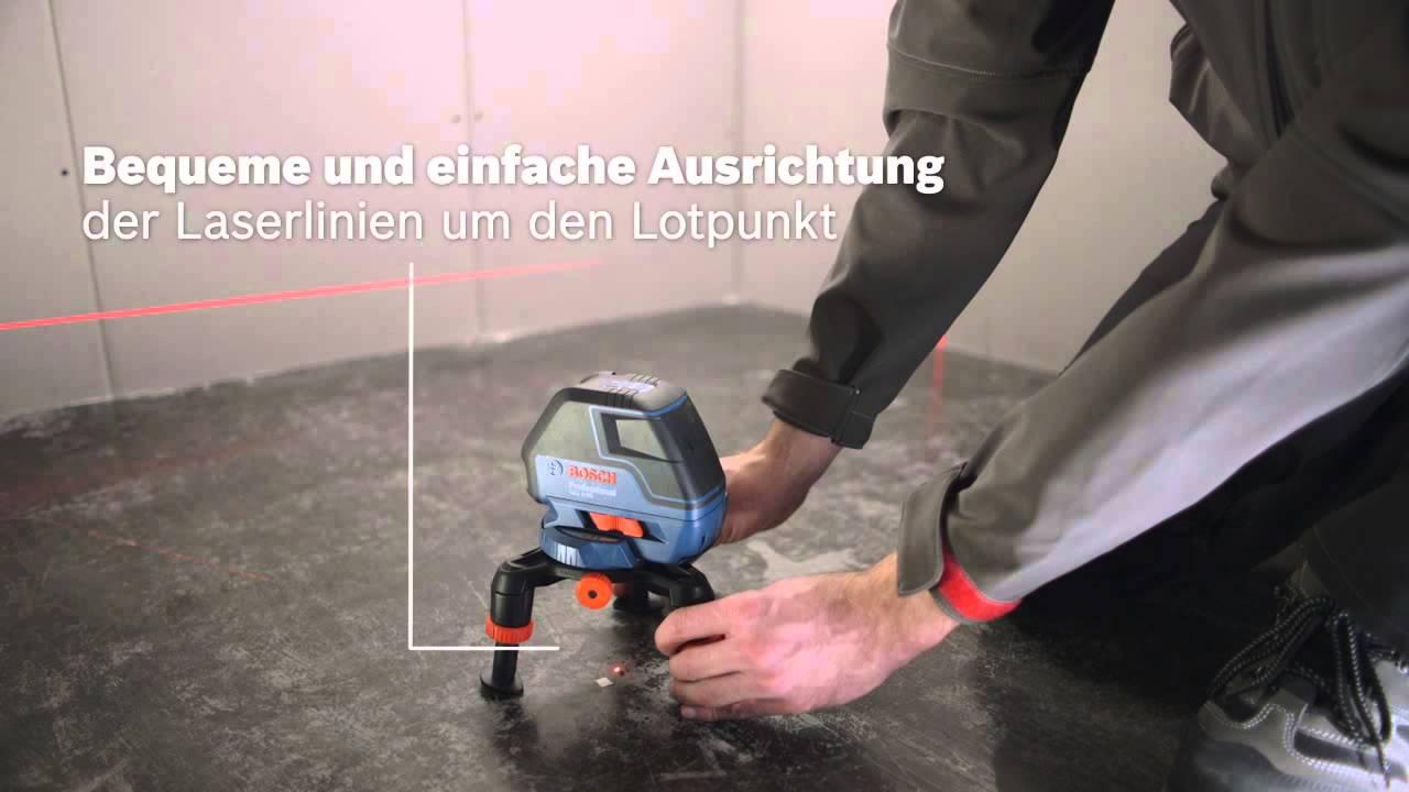 Laser Entfernungsmesser Rechter Winkel : Bosch multilinienlaser gll professional youtube
