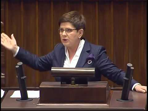 Premier Beata Szydło o wotum nieufności 07.04.2017