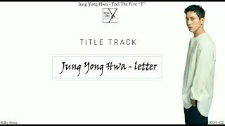 Cover images JUNG YONG HWA - LETTER (ENG SUB/ROM)