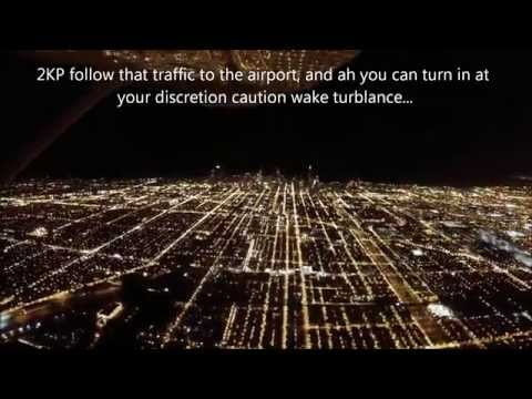 Landing at Chicago O'Hare International Airport, Cessna 172 (NO MUSIC)