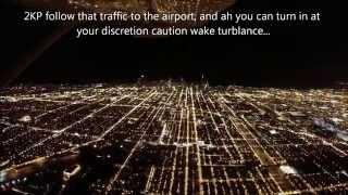 Landing at Chicago O'Hare International Airport, Cessna 172 (NO MUSIC)