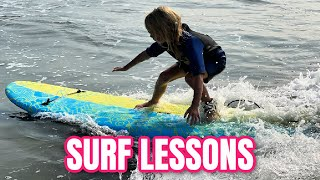 First Surf Lesson! DITL family of 7 beach vacation | Meet the Millers Family Vlogs