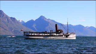 """【ニュージーランド】 クイーンズタウン ワカティプ湖の蒸気船「TSSアーンスロー号」 """"TSS Earnslaw"""", Queenztown New Zealand (2018.10)"""