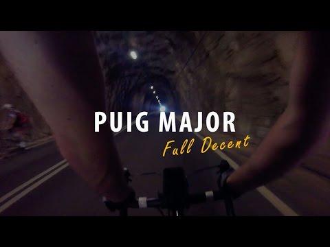 Puig Major - Majorca, full Descent from Mirador Tunnel - 78.9kph reached