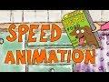 "Speed Draw 5x 30 min. | Behind the scenes | Pets Food ""Fake Bones"""