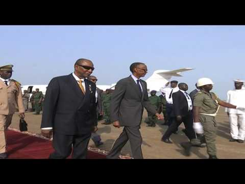President Alpha Conde welcomes President Kagame to Guinea | Conakry, 23 April 2017