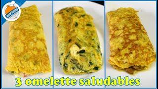 3 desayunos saludables, 3 ideas de Como hacer un Omelette saludable