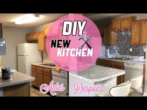 DIY Renueva Tu Cocina facil y Barato |Papel Marmol y azulejo de Contacto|Nady
