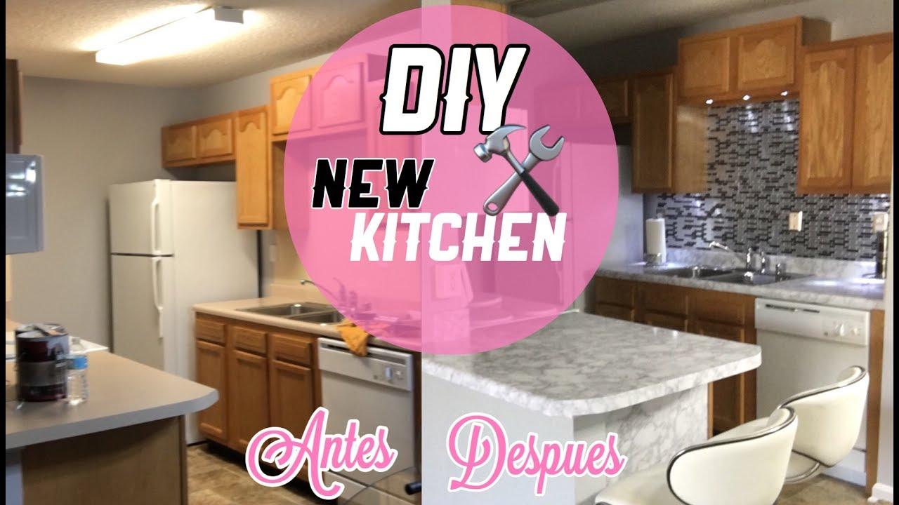 DIY Renueva Tu Cocina facil y Barato Papel Marmol y azulejo de
