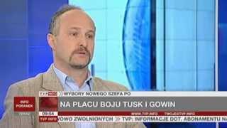 Prof. Wawrzyniec Konarski o kongresach PO i PiS  (Gość Poranka TVP Info, 30.06.2013)
