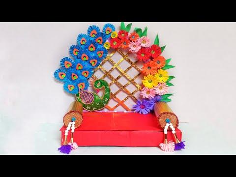 Eco-friendly Makhar Ideas   Ganpati Decoration Ideas For Home   Quick & Easy Ganpati Decoration Idea