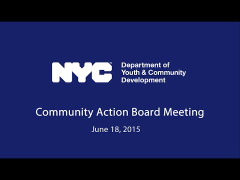 Community Action Board Meeting (June 18, 2015)