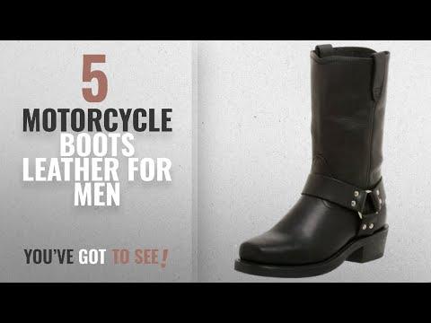 Top 10 Motorcycle Boots Leather [ Winter 2018 ]: Dingo Men's Dean Boot,Black,10 D US