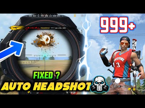 FREEFIRE LATEST UPDATE - AUTO HEADSHOT WORKS , 999+ PROBLEM SOLUTION + MUCH MORE!