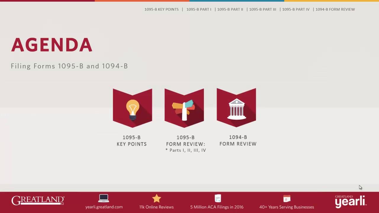Filing Form 1095-B & 1094-B - 2016 - YouTube