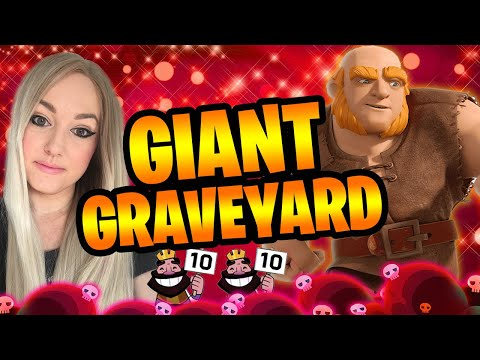 GIANT GRAVEYARD DECK | TIPS & TRICKS For Easy WINS In CLASH ROYALE