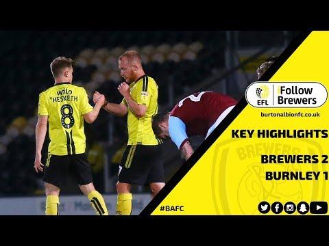 CARABAO CUP HIGHLIGHTS   Burton Albion 2-1 Burnley