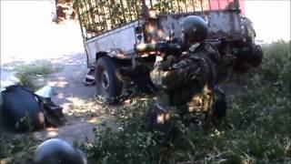 Ополченцы подразделения моторолла ДНР в боях