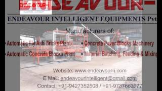 Fly Ash Brick Making Machine from ENDEAVOUR-i