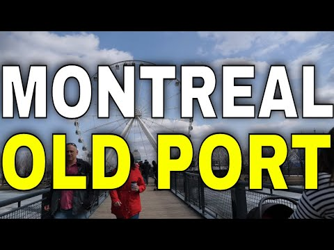 4K Montreal - Walking Tour Of The Old Port Of Montreal  -【4K】
