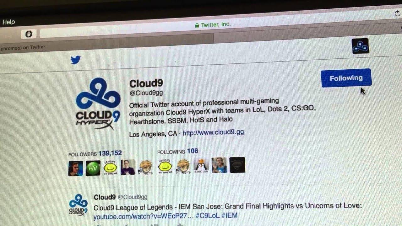 Cloud9 Twitter