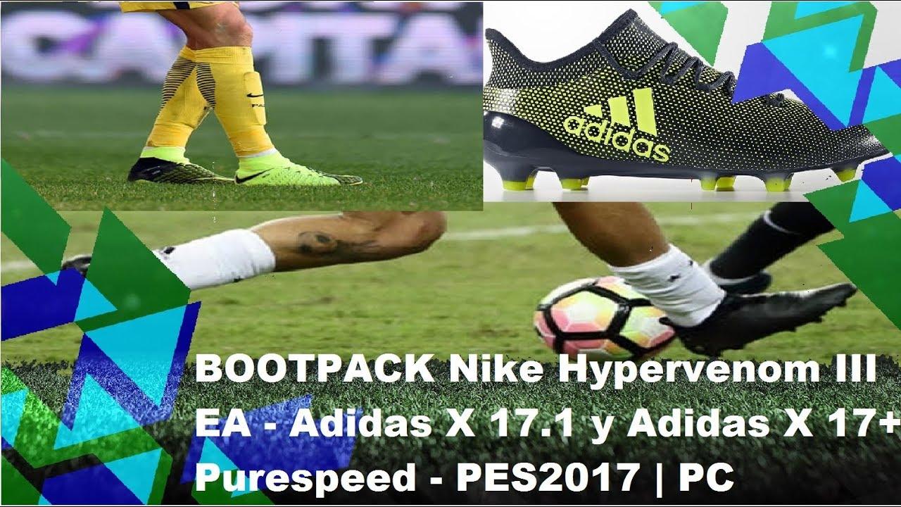 esposa Obligar objetivo  BOOTPACK Nike Hypervenom III EA y Botas de James Rodríguez y Paulo Dybala |  PES2017 - PC - YouTube